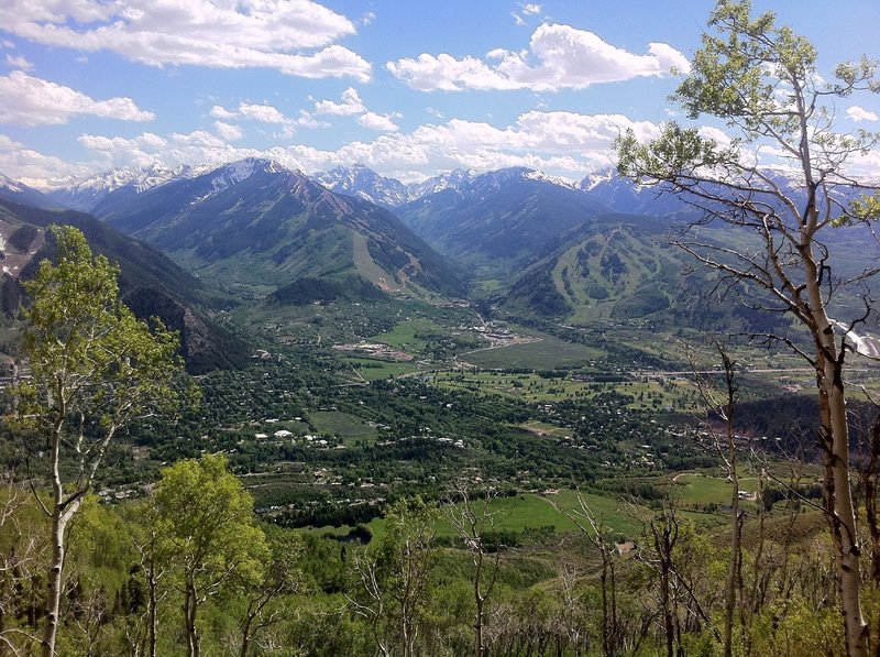 View from Red Mountain, traversing its face on the Sunnyside Trail.