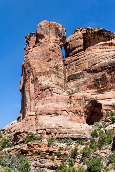 The walls of Fish Creek Canyon are truly impressive. This formation was near the confluence of left fork and right fork.
