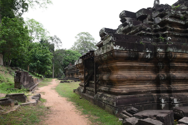 Baphuon Temple around the back of the structure.