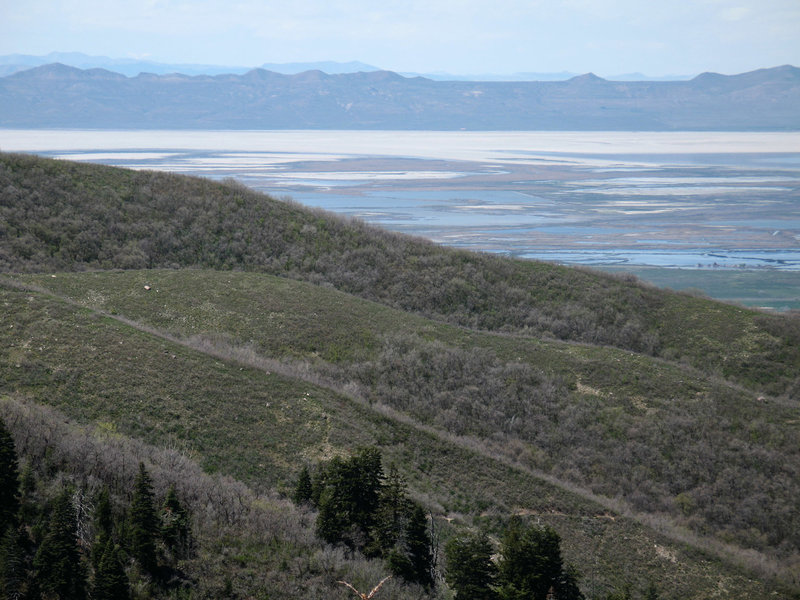Great Salt Lake viewed from the Mueller Park Trail.