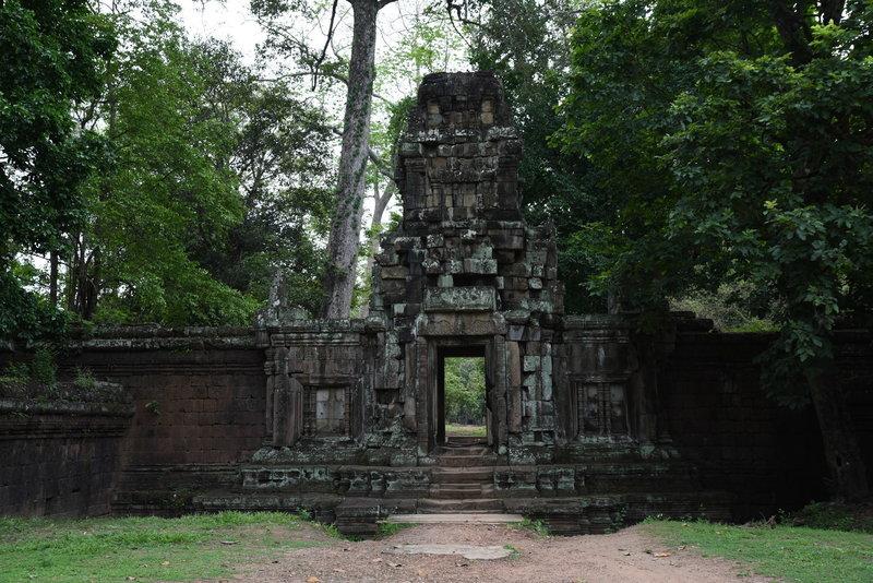 Stone gate entrance through the Royal Palace wall.