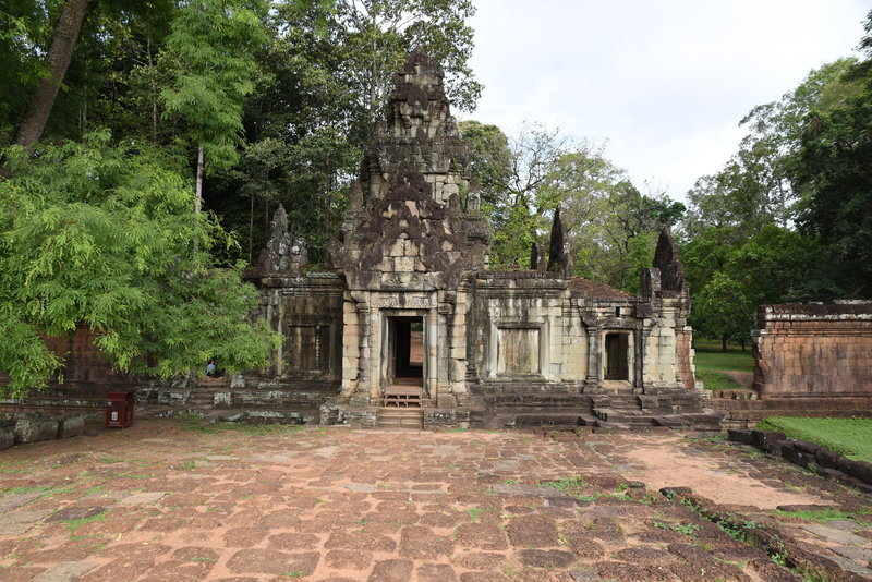 The Phimeanakas Temple Trail begins through this gate at the center of the Elephant Terrace.