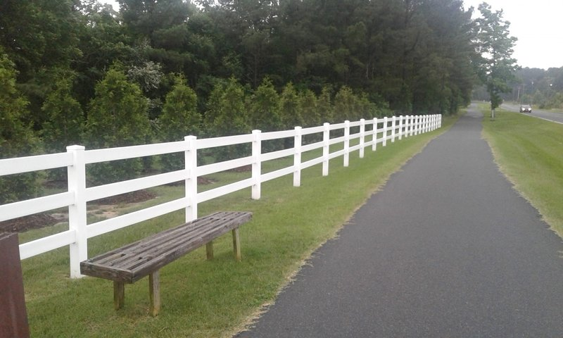 The trail is beautifully paved near the Aerial Avenue Entrance.