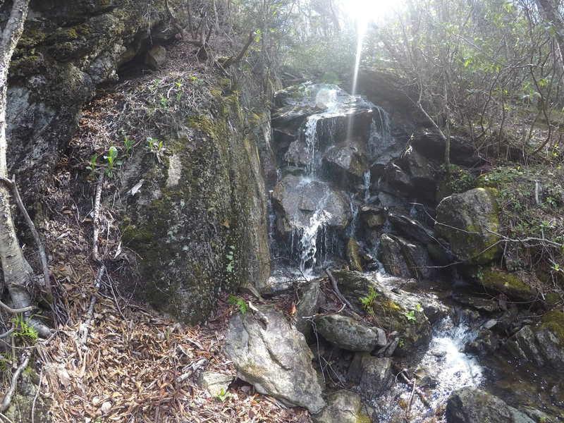 Cattail Creek Waterfalls is a pleasant treat along the trail.