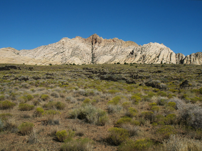 White Rocks formation at the north end of Snow Canyon State Park. Lava Flow Trail.