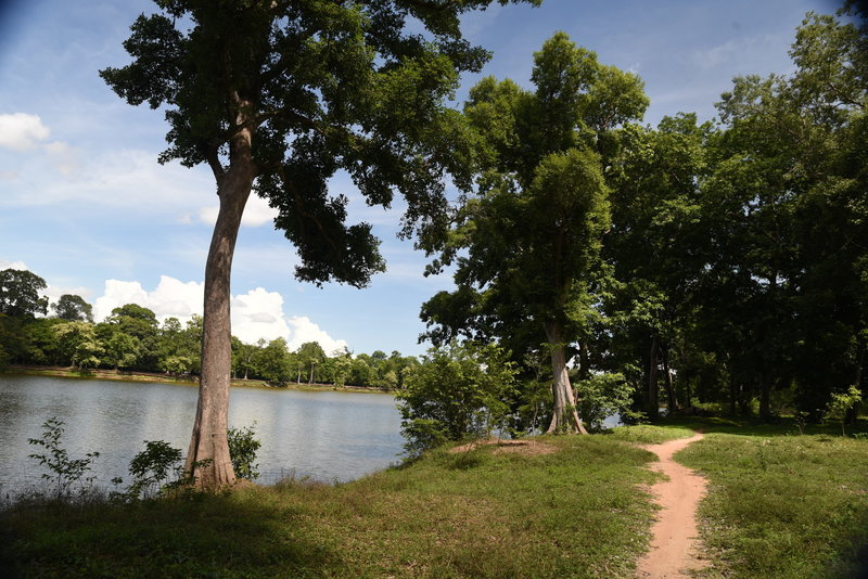 The southeast corner of the Angkor Wat Wall Trail.