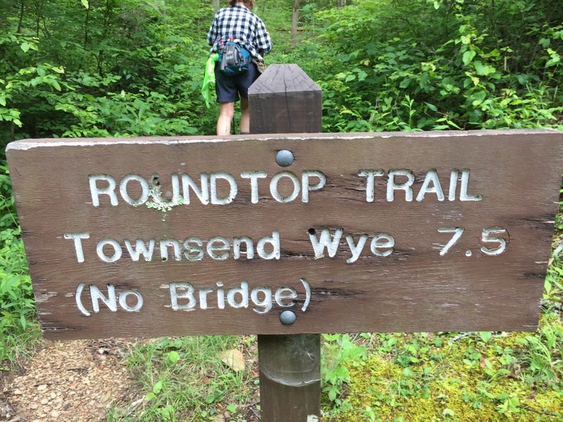Start of the Roundtop Trail.