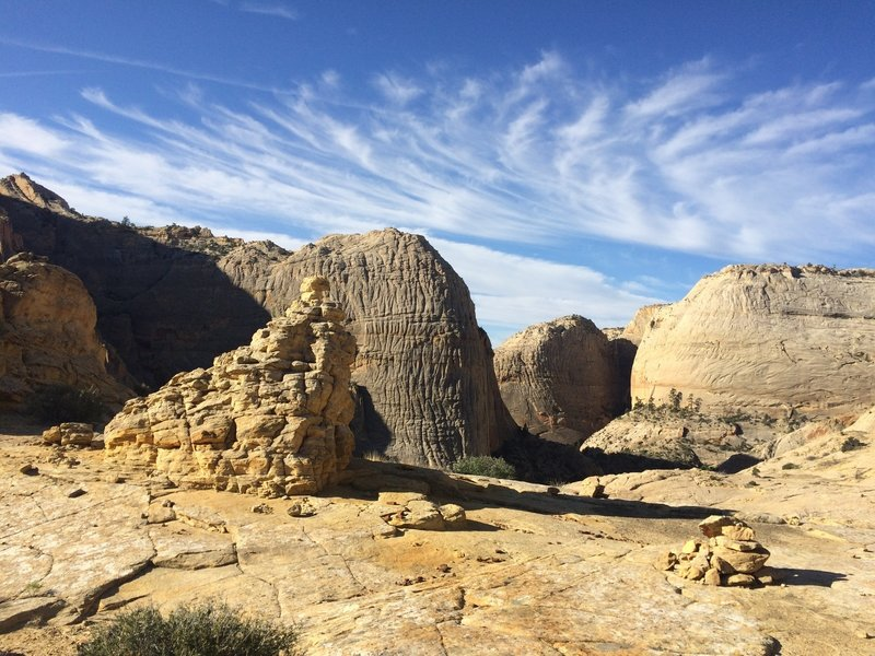 Sandstone views are plentiful along the Boulder Mali Trail.