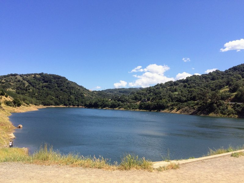 View of Guadalupe Reservoir from the Quicksilver -McAbee Loop.