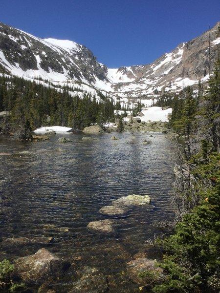 A small lake on Chaos Creek.