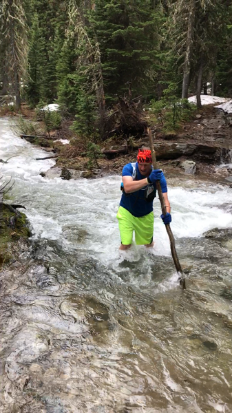 This can be the second possible wet crossing, depending on the time of year. Take caution at this point, as the creek drops in elevation rapidly and is moving swiftly..