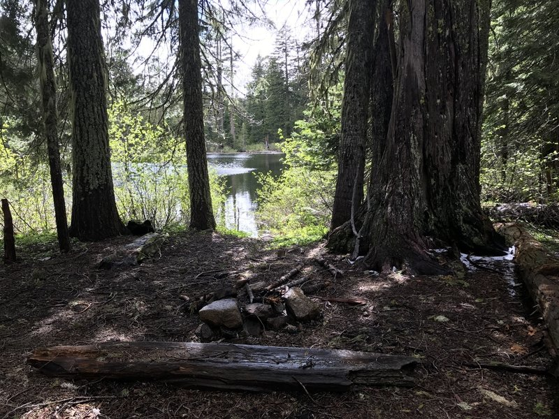This is the secondary campsite at Mill Creek Lake in Six Rivers National Forest.