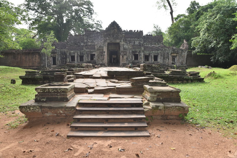 Start of the loop section of the Preah Khan Trail.