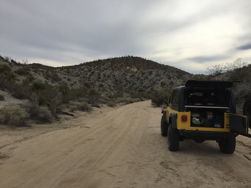Exploring Berdoo Canyon Road.