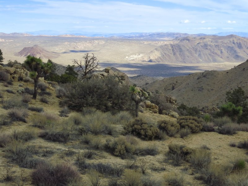 The view from the Tingman-Holland Mine Spur.