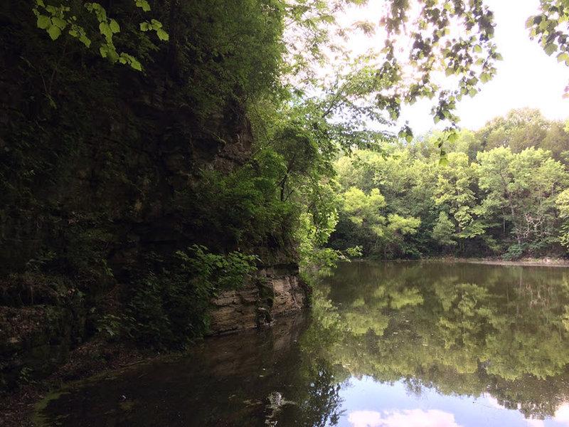 The shore of Hidden Lake.