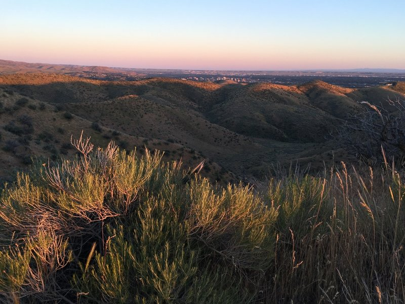 View of Boise from the Doe Ridge Trail.