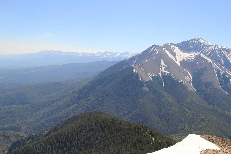 Enjoy phenomenal views from East Spanish Peak to the West Spanish Peak and the Sangre de Cristo Range.