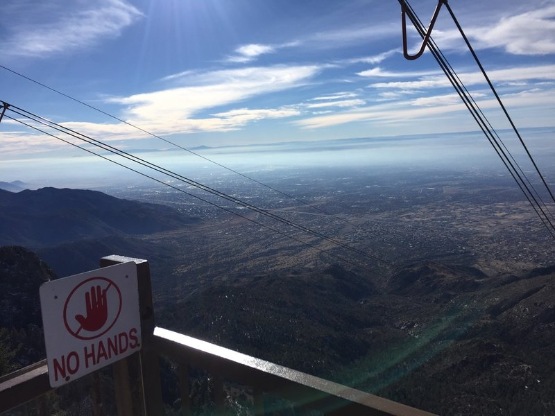 La Luz overlooks Albuquerque from the Sandia Peak Aerial Tramway.