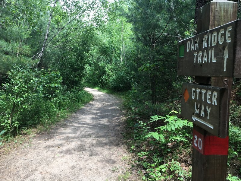 This Otter Way trailhead is well marked by a painted sign.