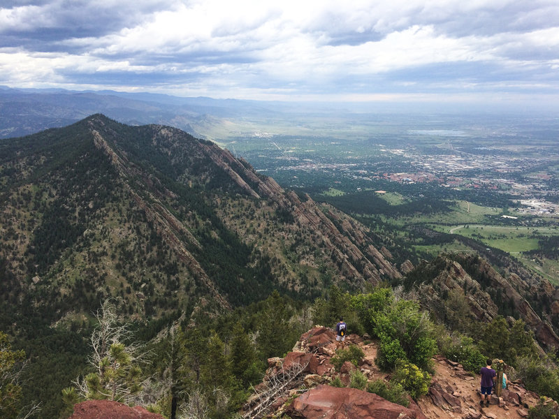 You'll catch a great profile view of the Boulder Flatirons from the summit of Bear Peak.