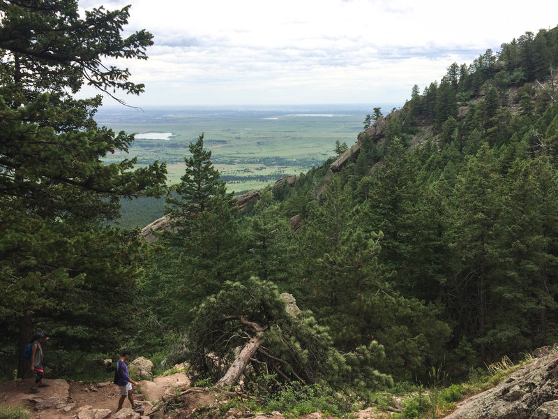 The views don't disappoint heading down from Bear Peak.