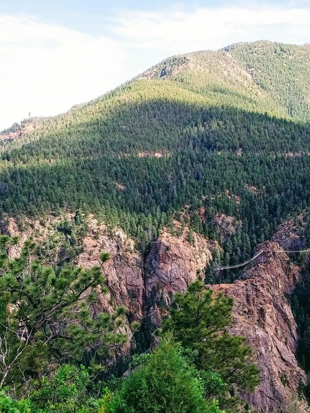 You can overlook part of the Broadmoor's Soaring Adventures from the summit of Mt. Cutler.