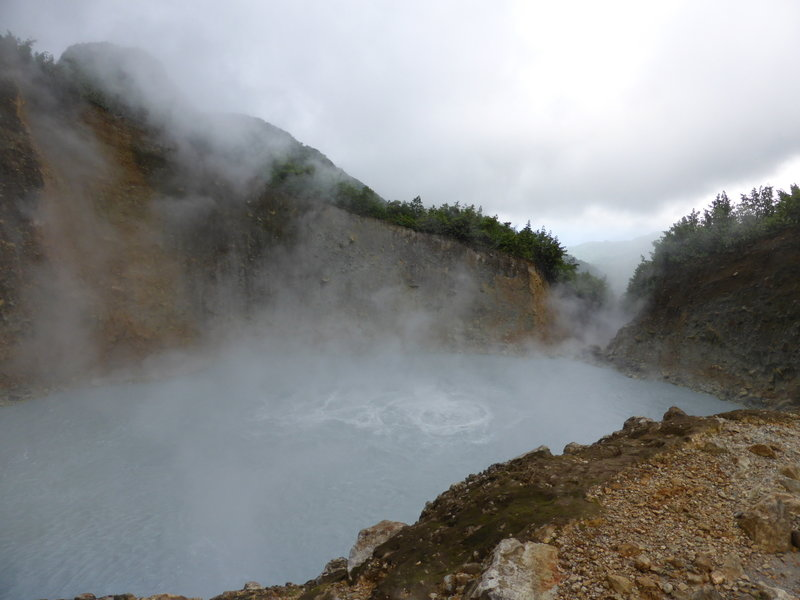 The Boiling Lake is not something you see every day!