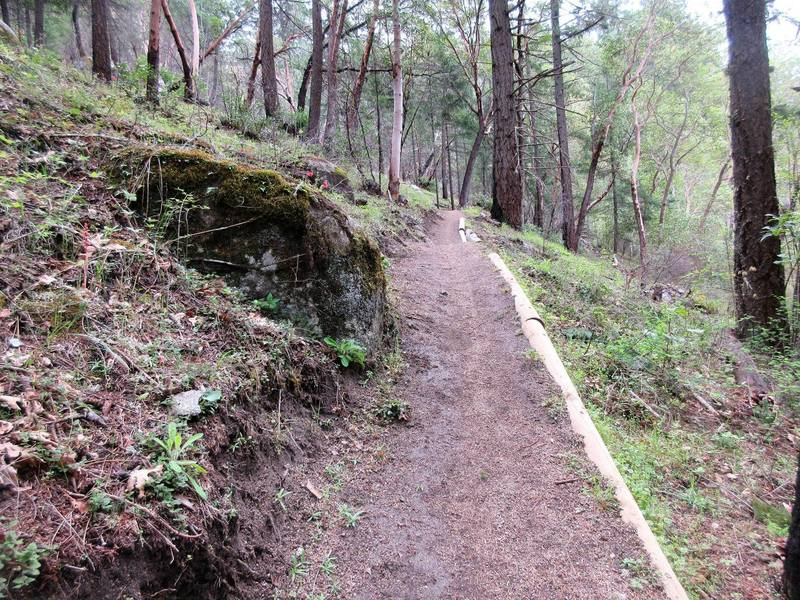 The bottom of Snark Trail is buffed smooth.