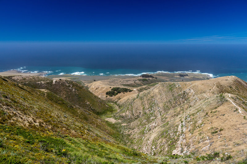 Soak up the ocean view from Valencia Peak Trail.