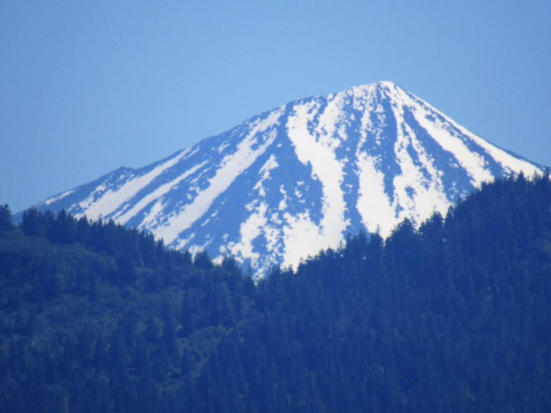 Mt. Mcloughlin is beautiful from the Lewis Loops (Photo by Robert Nicholson).