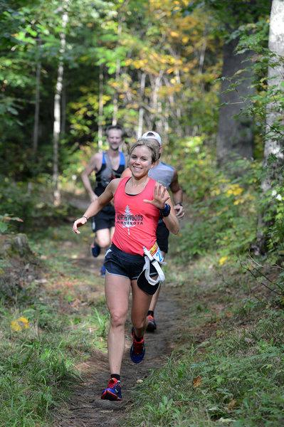 Singletrack in the Birkie Trail Run.