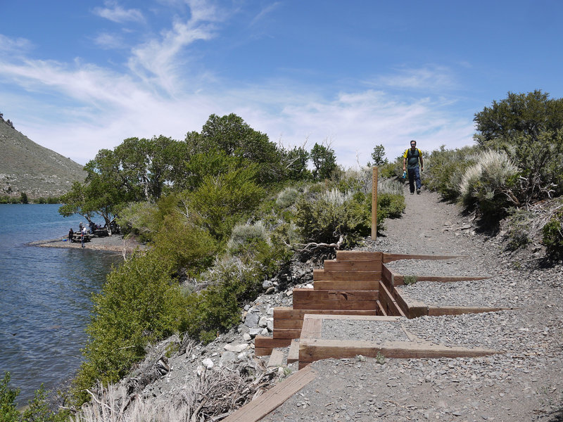 The Convict Lake Trail has many lake access points.