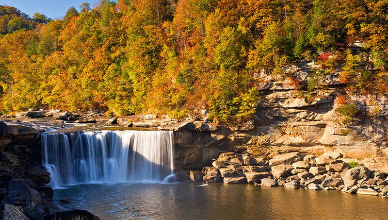 Cumberland Falls in the autumn.