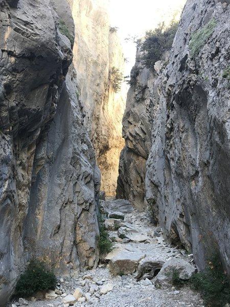 Toward the top is where you enter the narrows.