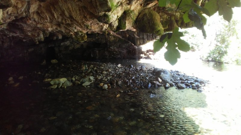 This awesome cave offers cool relief from the midday heat.