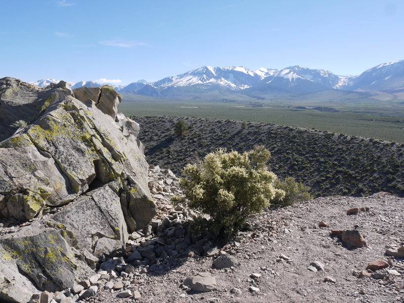 The Sierras are beautiful when seen from Panum Crater.