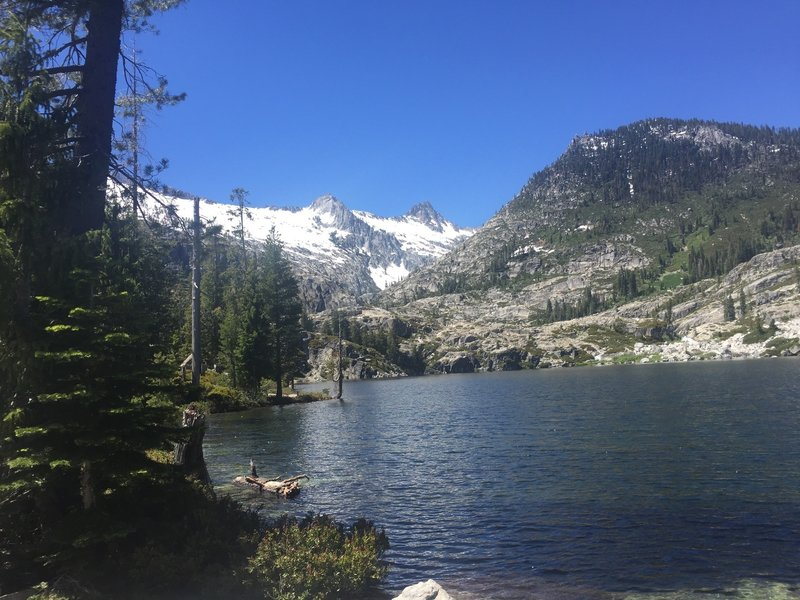 Lower Canyon Creek Lake is gorgeous in the summer.
