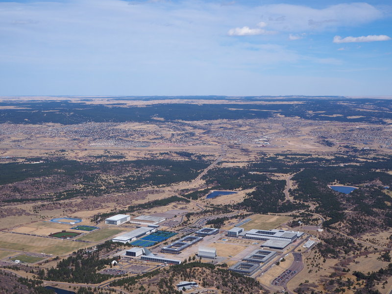 Enjoy great views of the USAFA from the top of Eagles Peak.