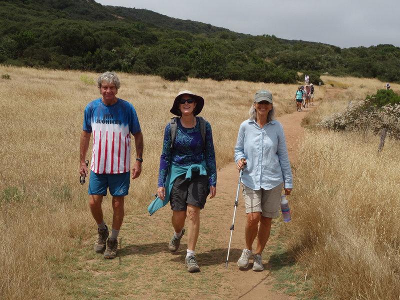 Three intrepid hikers take on Los Peñasquitos Canyon.