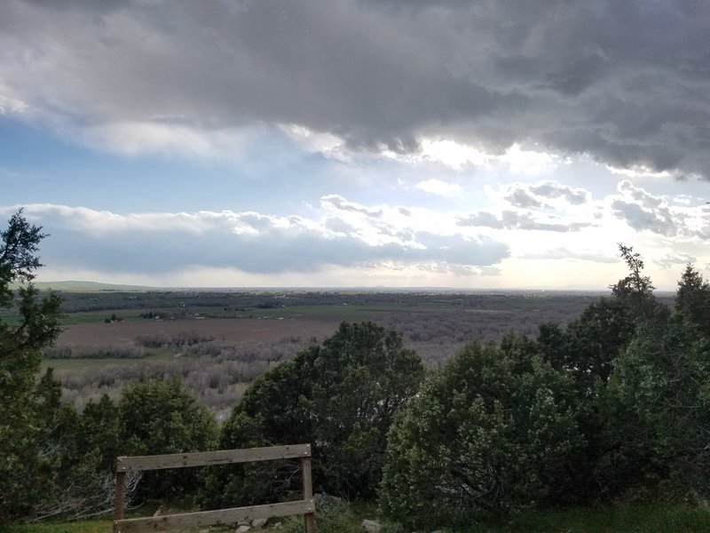 This is the view from the high point of the trail.
