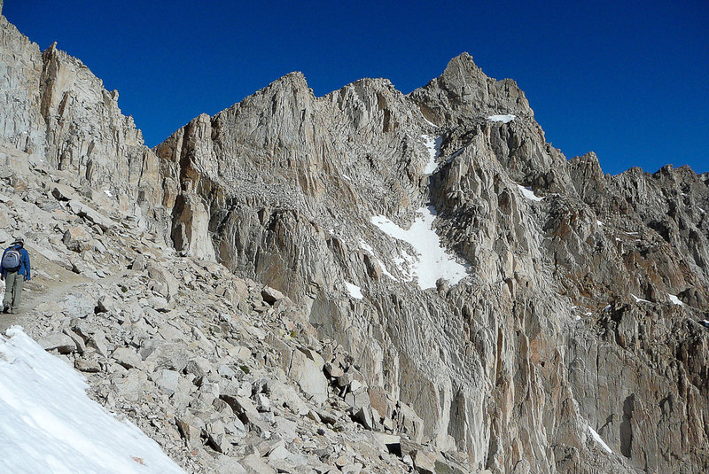 It's a long, rough trail to the summit of Mount Whitney.