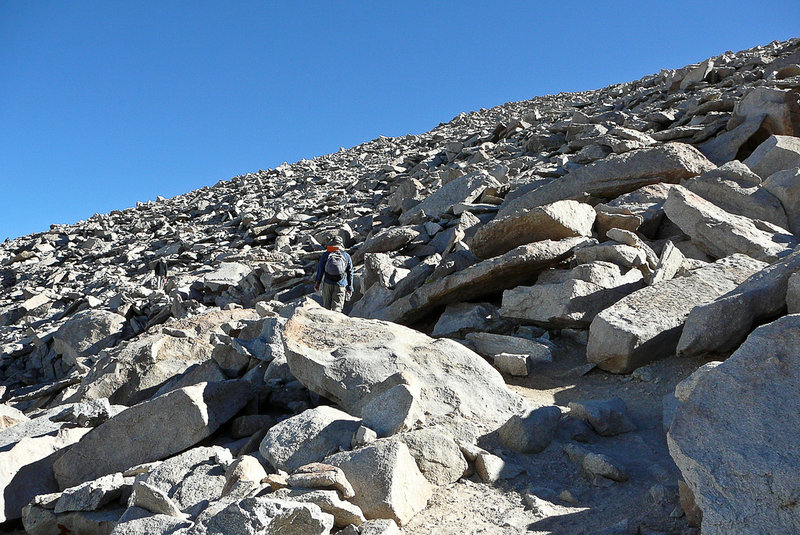 Only a few more rocks and I will be at the summit.