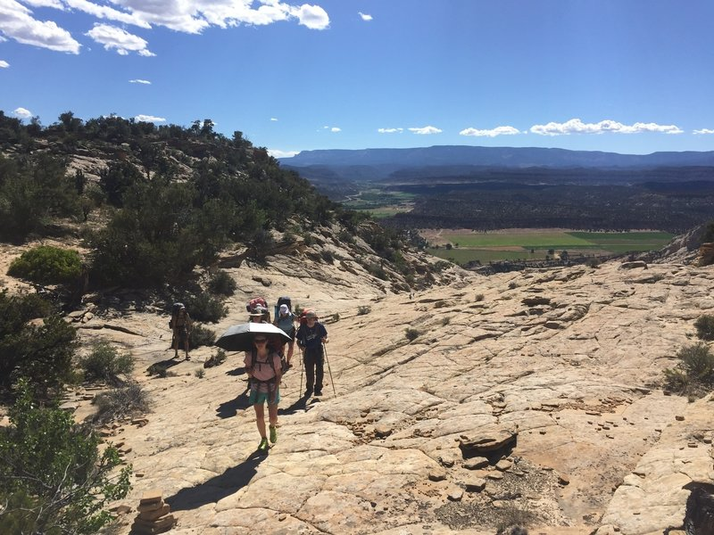 The view down to Escalante from the Boulder Mail Trail is quite beautiful.