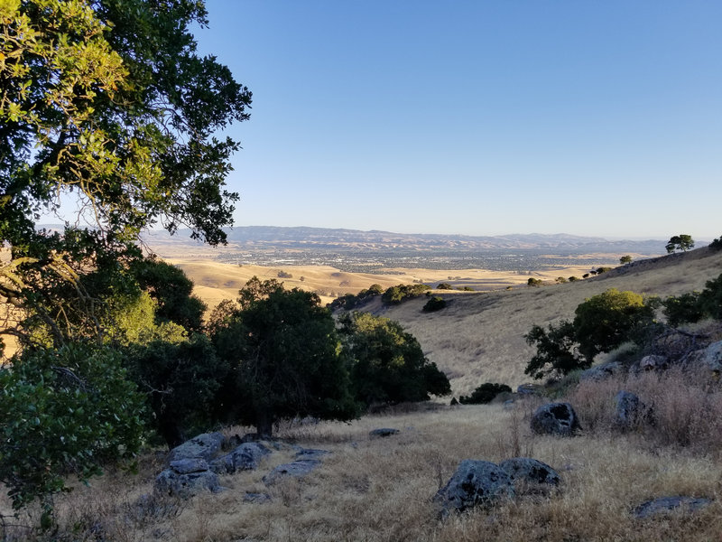 Livermore is beautiful from the flanks of Brushy Peak during sunset.