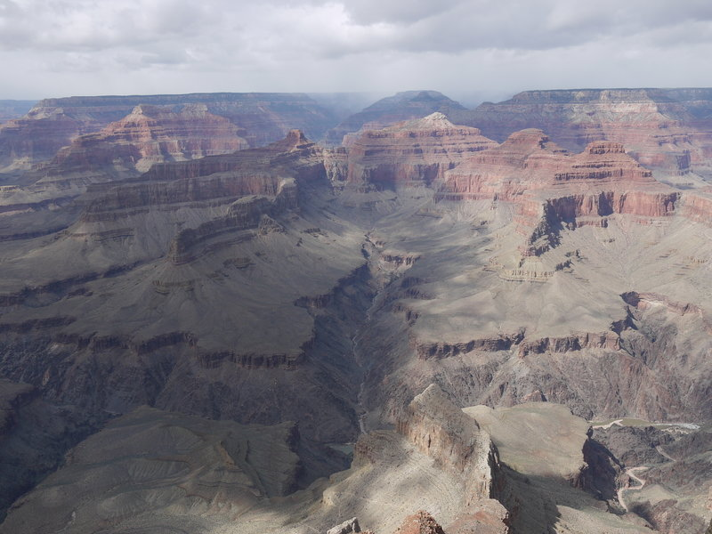 The Grand Canyon is bisected by Ninetyfour Mile Creek as viewed from Pima Point.