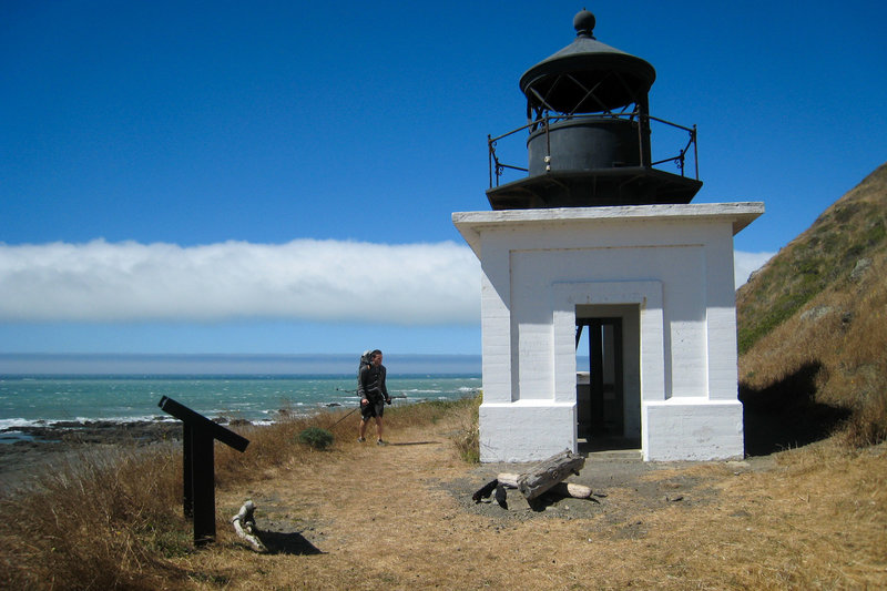 Punta Gorda Lighthouse along the Lost Coast Trail.