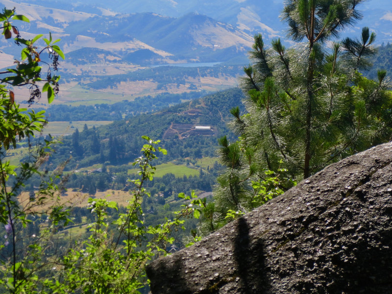 Enjoy awesome views of a distant Emigrant Lake from the White Rabbit Trail.
