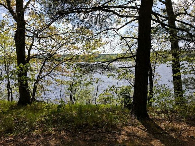 West Thompson Lake is a pleasant companion on your way around the Shoreline Trail.