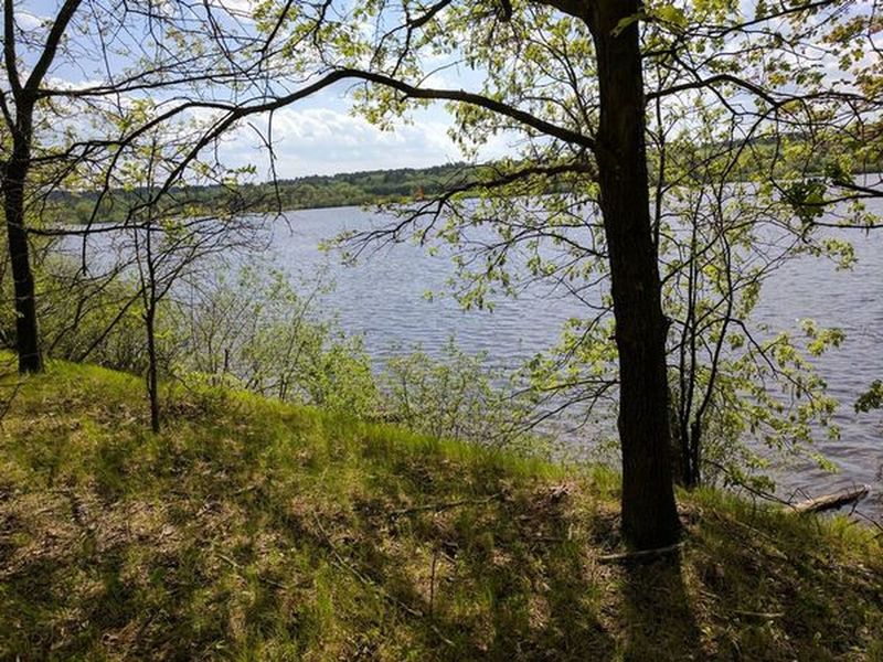 West Thompson Lake makes for a great view along the Shoreline Trail.